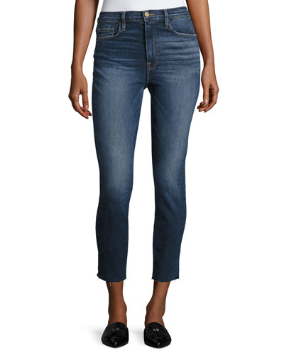 Ali High-Rise Skinny Cigarette Cropped Jeans, Blue