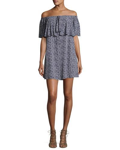 Havasu Cold-Shoulder Maxi Dress, Blue