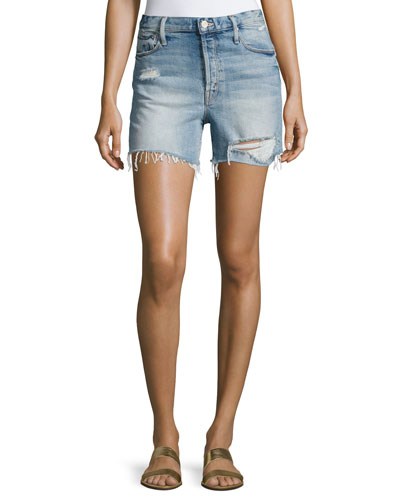Proper High-Rise Denim Shorts, Indigo