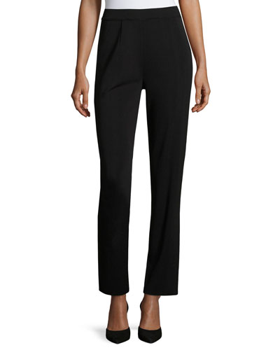 Plus Size Straight-Leg High-Rise Pants