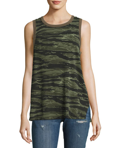 The Surplus Camo Tank Top, Green Pattern
