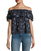 The Ruffle Floral-Print Top