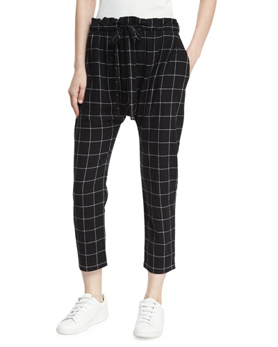 The Harem Check Drawstring Pants