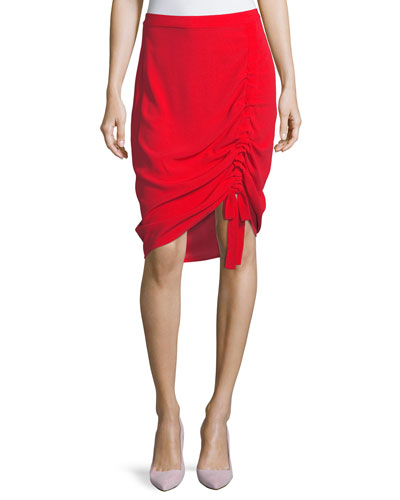 Ivy Crepe Ruched Skirt
