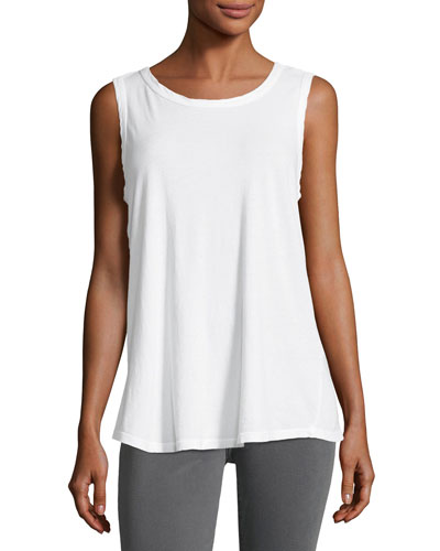 The Cross-Back Muscle Tee, White