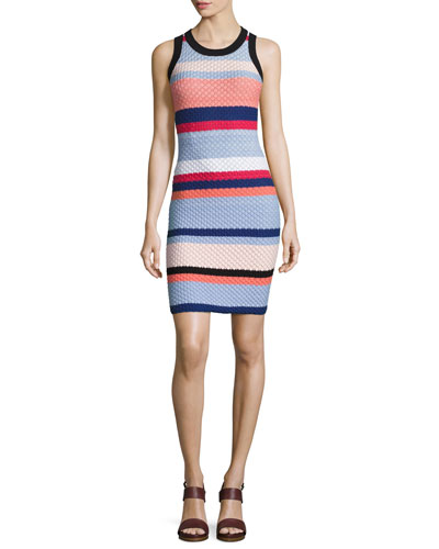 Josephina Sleeveless Knit Mini Dress, Multi