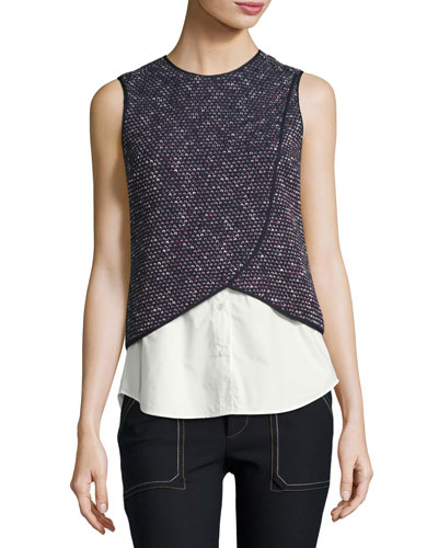 2-In-1 Tank Top Combo, Navy
