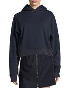 Bale Sweatshirt Hoodie with Shoelace Sides, Navy