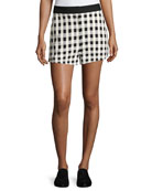 Carson High-Waist Gingham Shorts