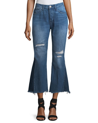 Higher Ground Gusset Flared Cropped Jeans