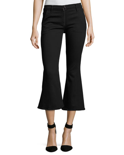 Le Crop Bell Pants, Black