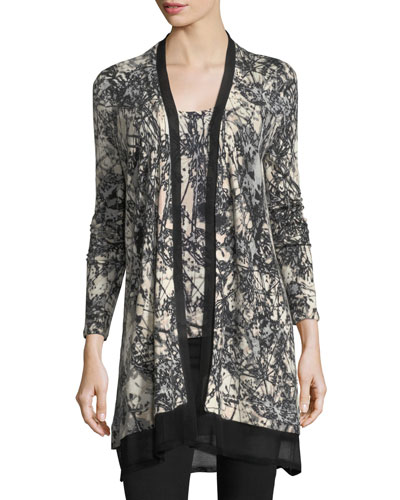 Sheer Knit Cardigan | Neiman Marcus