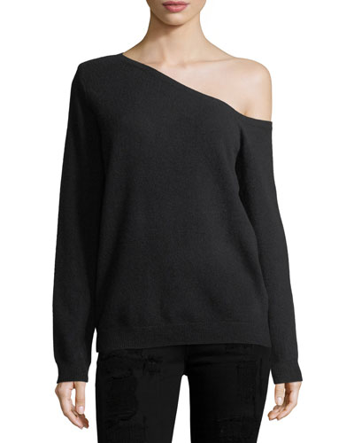 Claudine One-Shoulder Cashmere Sweater