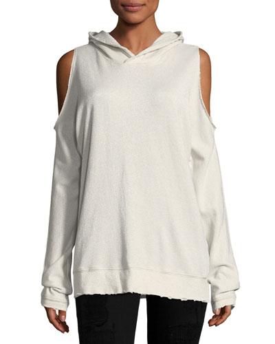 Juno Cold-Shoulder Hooded Sweater