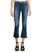 Brix High-Rise Crop Flared Jeans, Indigo