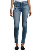 Nico Mid-Rise Ankle Super Skinny Jeans, Indigo