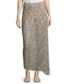 The Midi Slayer Skirt, Beige-Multi