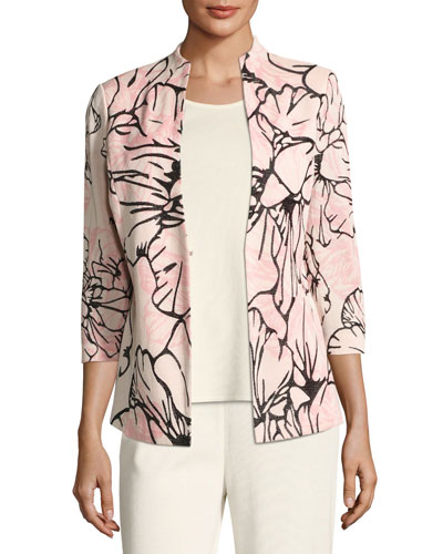 Graphic Petals Knit jacket