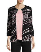 Ribbon 3/4-Sleeve Jacket