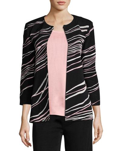 Ribbon 3/4-Sleeve Jacket
