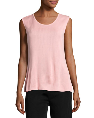 Scoop-Neck Tank, Pink