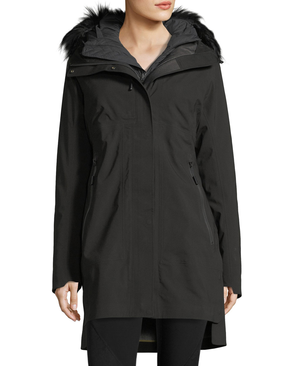 The North Face Triclimate® Hooded Zip - Front Parka Jacket w /  Faux - Fur
