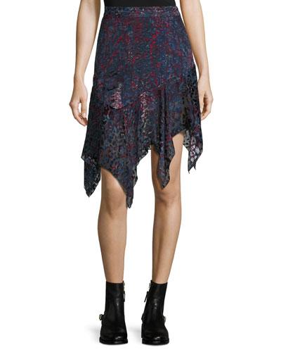 Birkin Asymmetric Handkerchief Hem Skirt