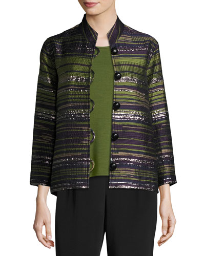 Romancing The Stone Jacquard Jacket, Plus Size