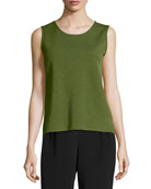 Wool Knit Basic Tank, Plus Size