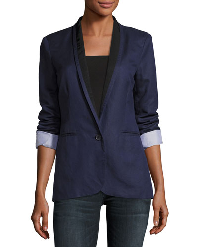 Amit One-Button Jacket, Blue