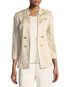 Textured Button-Detail Jacket