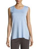 Scoop-Neck Long Knit Tank, Plus Size