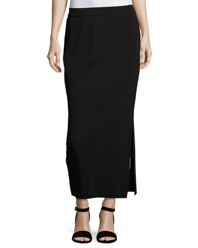 Long Straight Knit Skirt