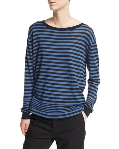 Oversized Multi-Stripe Pullover