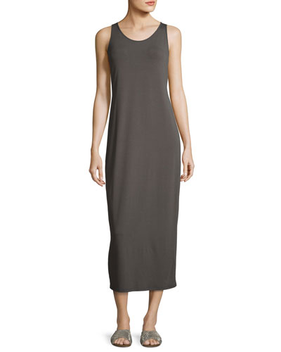 Sleeveless Scoop-Neck Midi Dress, Plus Size