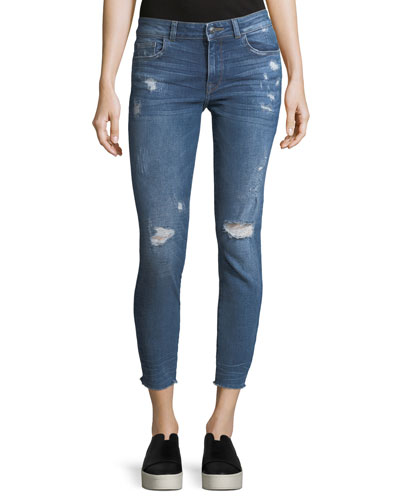 Florence Crop Distressed Skinny Jeans