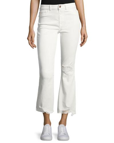 Jackie Trimtone Crop Flare Jeans