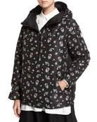 Mirtus Floral Hooded Combo Jacket