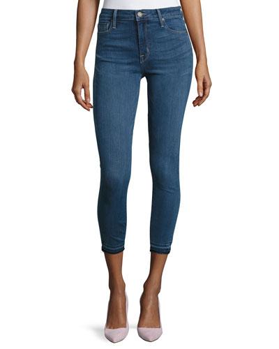 Bombshell Cropped Skinny Jeans, Medium Blue