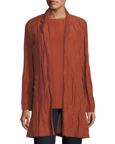 Rumpled Organic Cotton-Blend Jacket