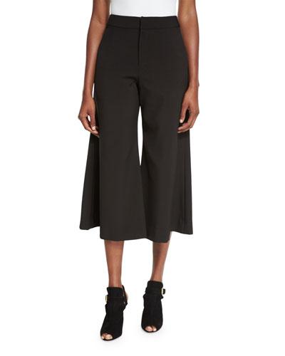 Classic-Fit Flare-Leg Culottes