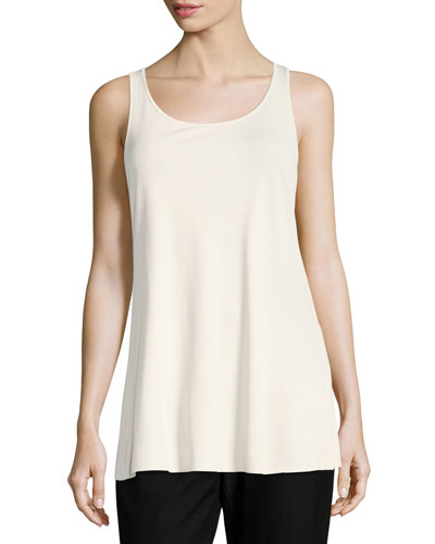Jersey Sleeveless Scoop-Neck Tunic, Plus Size