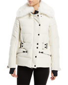 Belleville Fur-Collar Belted Coat
