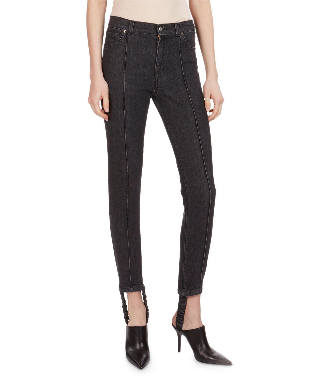 Benson High-Waist Skinny Stirrup Jeans
