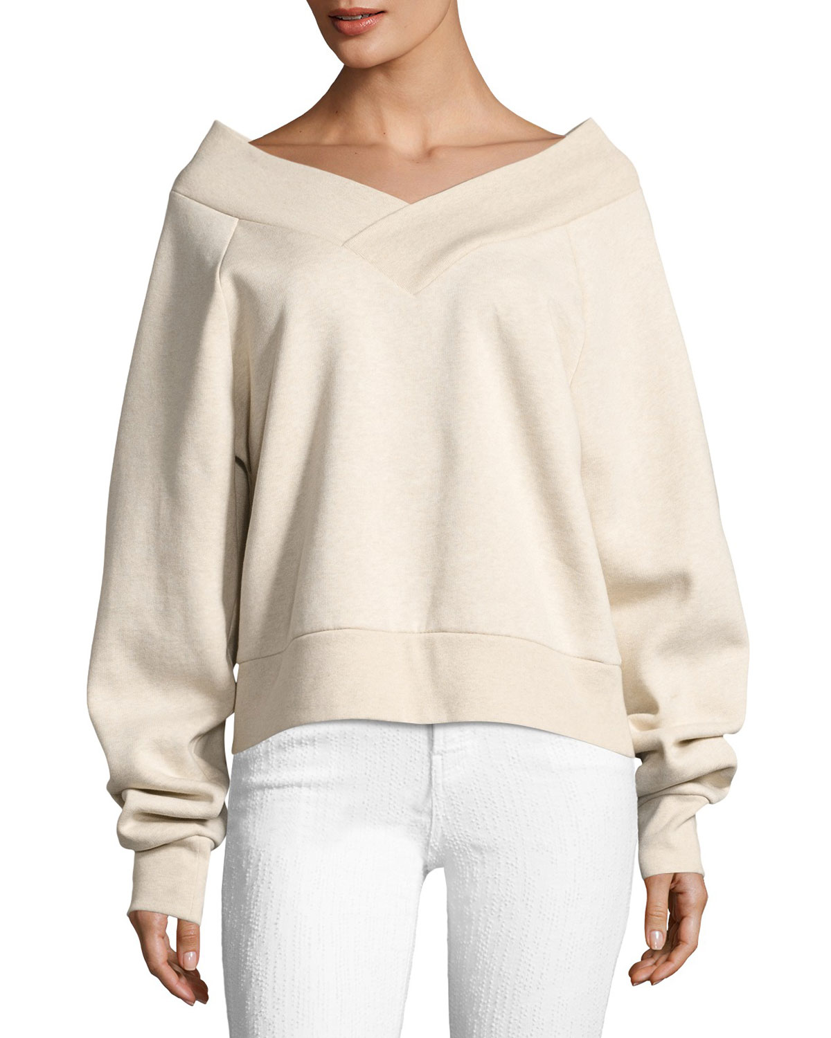 Falacho V-Neck Long-Sleeve Sweatshirt