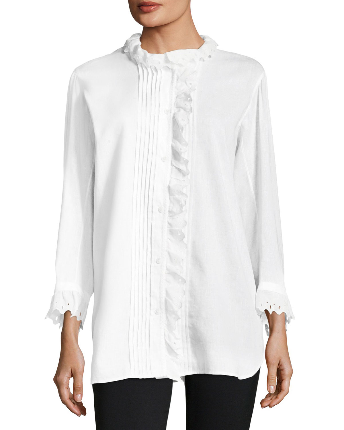 Begonia Big Shirt w/ Ruffle Trim