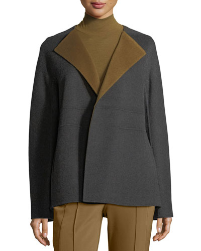 Oriana Two-Tone Double-Faced Jacket
