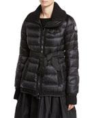 Karen Quilted Puffer Coat, Black