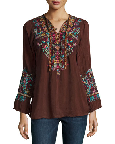 Sheesoh Georgette Blouse w/ Embroidery