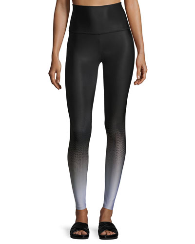 Fade To Black High-Waist Full-Length Leggings, Black Pattern